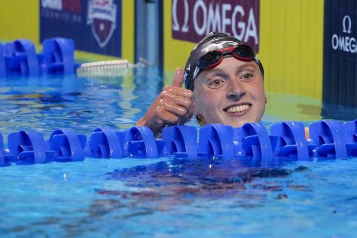 Natation féminine 200, 400 et 800 mètres : Katie Ledecky (États-Unis) contre Ariane Titmus (Australie)