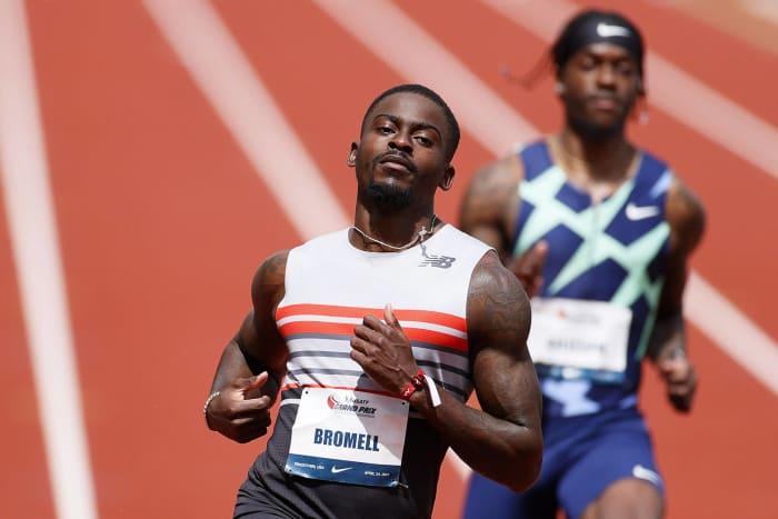 100 mètres hommes : Trayvon Bromell (États-Unis) contre Ronnie Baker (États-Unis) contre Akani Simbine (Afrique du Sud) contre Andre De Grasse (Canada)