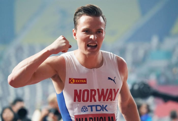 400 mètres haies hommes : Rai Benjamin (États-Unis) contre Karsten Warholm (Norvège)