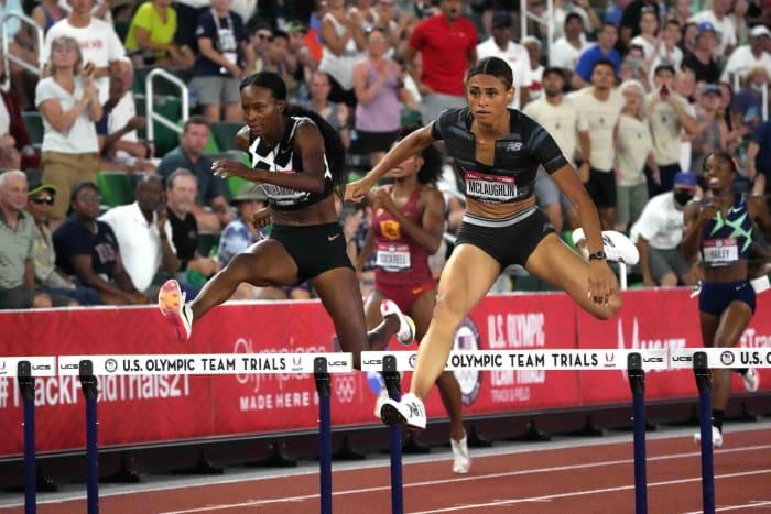 400 mètres haies femmes : Sydney McLaughlin (États-Unis) contre Dalilah Muhammad (États-Unis)