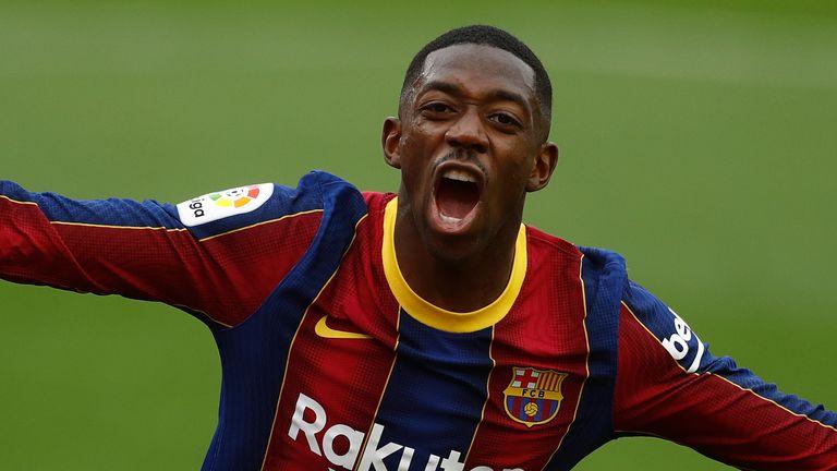 Ousmane Dembele a marqué alors que Barcelone se rapprochait de l'Atletico Madrid au sommet de la Liga