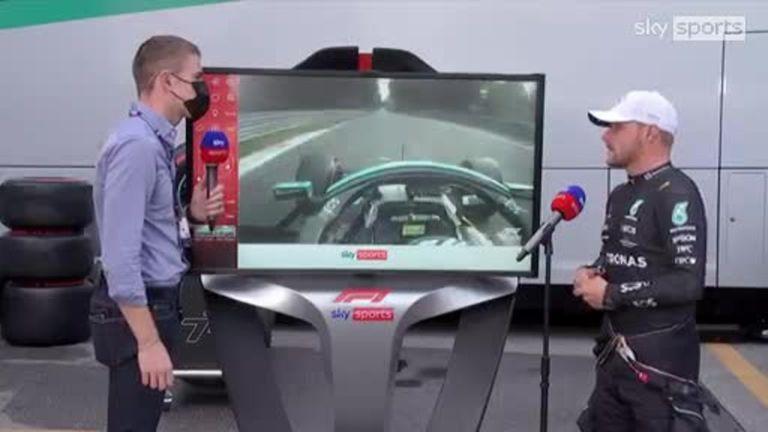 Valtteri Bottas rejoint Paul di Resta de Sky F1 au SkyPad après s'être qualifié le plus rapidement pour la course de « sprint » du Grand Prix d'Italie.