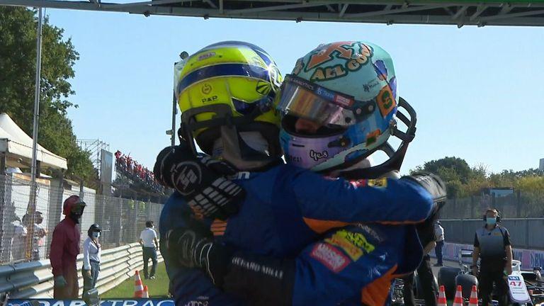 Daniel Ricciardo célèbre sa première victoire en course depuis 2018, tandis que Lando Norris est arrivé deuxième pour assurer un doublé à McLaren.