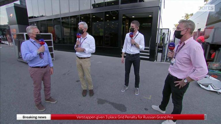 L'équipe Sky F1 a réagi immédiatement après que Max Verstappen s'est vu infliger une pénalité de trois places sur la grille pour être entré en collision avec Lewis Hamilton à Monza.