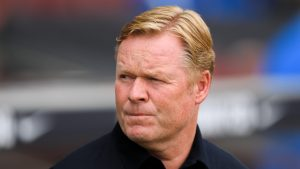 Koeman leaves Barcelona press conference after reading out statement and refusing to take questions