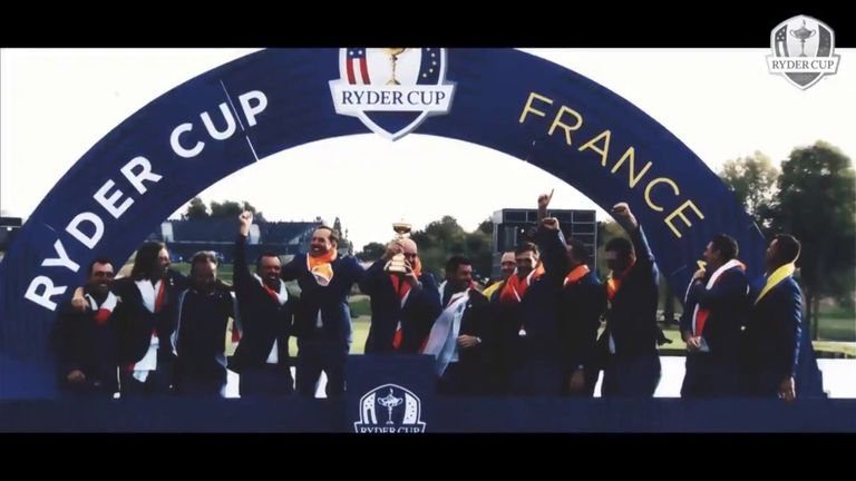 Team Europe produced an inspirational video to remind its players about the select company they're in by competing at a Ryder Cup