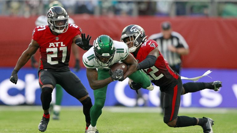 Highlights of the game between the New York Jets and Atlanta Falcons from the Tottenham Hotspur Stadium in London