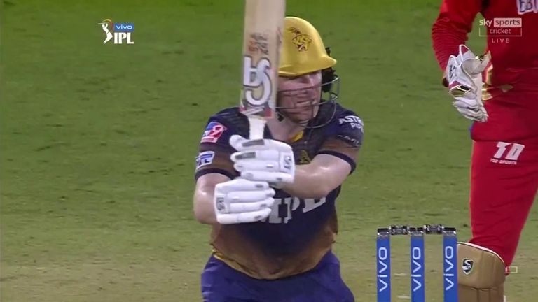 Eoin Morgan led from the front to take Kolkata Knight Riders to a five-wicket win over Punjab Kings - a victory that ended a four-game losing streak in the IPL.