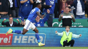 Daka breaks Premier League duck as Leicester City beat Manchester United
