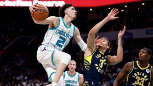 LaMelo Ball hears 'MVP' chants as Charlotte Hornets stun Indiana Pacers in season opener