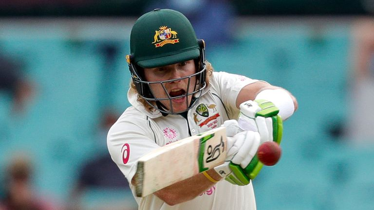 Australia's Will Pucovski scored 62 and 10 in his debut Test, against India in January