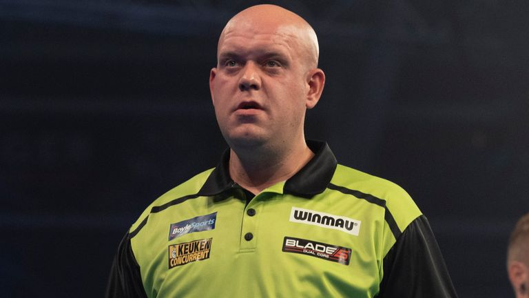 Michael van Gerwen joined Wright in exiting the World Grand Prix in the opening round on a night of shocks